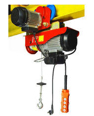 Low Noise Mini Electric Wire Hoist With Moving Trolley Single Or Double Hook