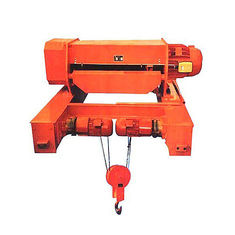 Double Girder Rail Construction Small Electric Wire Rope Hoists With Electric Traveling Trolley